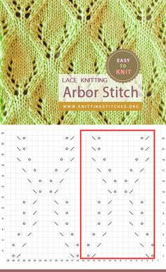 Arbor Lace Easy To knit Baby Hat Knitting Patterns Free, Knitting Charts, Loom Knitting, Knitting Stitches, Free Pattern, Eyelet Lace, Knitting Projects, Knitted Hats, Diy And Crafts