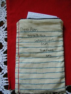 hand #embroidery -- letter keeper