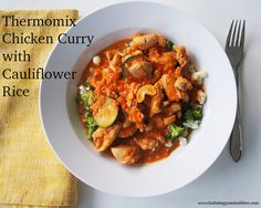 Thermomix Chicken Curry with Cauliflower Rice
