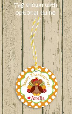 15 Thanksgiving Turkey fall birthday party favor thank you tags or stickers labels.