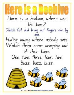 Writing Paper ommon Songs Posters - PDF file 21 pages. 21 x posters with your favourite common songs. Each songs has a smart border and illustration and is a great teacher resource. Use as a reference for teaching songs, post in your classroom Finger Rhymes, Finger Plays, Songs For Toddlers, Kids Songs, Bug Songs, Bee Activities, Therapy Activities, Preschool Music, Kindergarten Songs