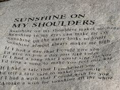 John Denver Memorial - Sunshine on my shoulders