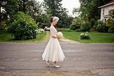$100 vintage tea-length lace wedding dress