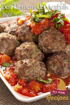 Meatballs are the ultimate in comfort food, right? Toss them in marinara sauce and top a pile of freshly cooked noodles with them, or stuff them into a roll to create a meatball sub sandwich Large Meatball Recipe, Best Homemade Meatball Recipe, Meatball Recipes, Meatball Subs, Homemade Recipe, Pork Recipes, Chicken Recipes, Recipies, Beef Dishes
