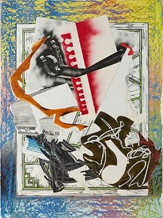 Going Aboard (from the Wave II Series), 1989, Frank Stella