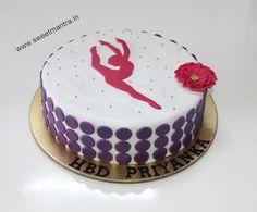 Jazz dance theme handcrafted customized eggless designer birthday cake for girl at Baner, Pune