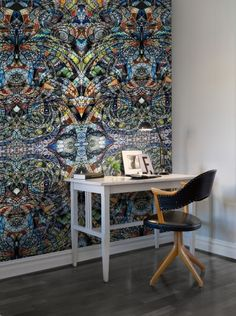 Hey, look at this wallpaper from Rebel Walls, Kaleidoscope! #rebelwalls #wallpaper #wallmurals