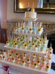 Sunflower cake pops!