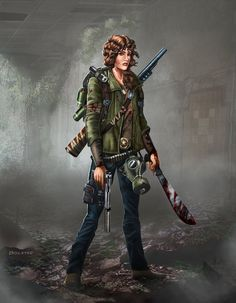 Here is a lady survivor to go to with my zombie survival art. Painted in Photoshop Cs5. You can check out more of this set below.Thanks for looking!