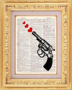 vintage gun art - Google Search