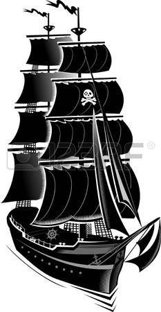 Ship Silhouette, Silhouette Images, Boat Drawing, Ship Drawing, Stencil Art, Stencils, Pirate Ship Tattoos, Pirate Boats, Cnc Cutting Design