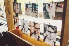 Engagement pictures display.