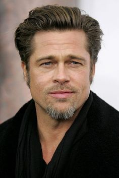 As Brad Pitt becomes the first ever male face of CHANEL we bring you his beauty look book Hollywood Actor, Hollywood Celebrities, Jennifer Aniston, Brad Pitt Haircut, Brad Pitt And Angelina Jolie, Jolie Pitt, Brad Pitt Photos, Pompadour, Celebrity Pictures