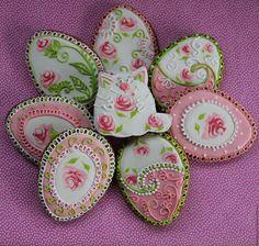 """Купить Пряники на Пасху.Пасхальный набор """"Роза"""" - розовый, Пасха, пасхальное яйцо, пасхальный подарок"""