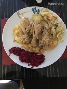 Kurča so zemiakmi v jednom hrnci (fotorecept) - recept   Varecha.sk Chicken, Meat, Cubs