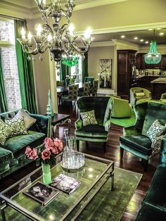 Emeralds and Sapphires - rooms with a view - Eclectic - Living room - Images by CG Creative Interiors Eclectic Living Room, Living Room Art, Living Room Images, Living Room Designs, Modern Bedroom Design, Home Interior Design, Modern Bedrooms, Estilo Hipster, Bedroom Green
