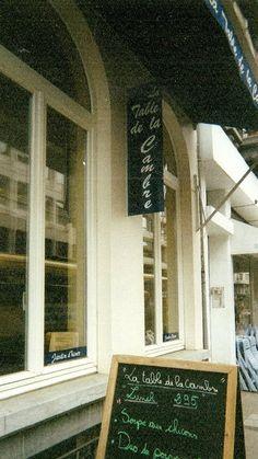 La Table de la Cambre Tea Room, Brussels, Belgium (April 2000)