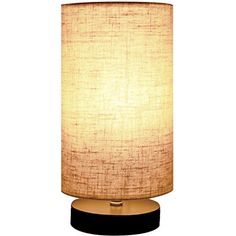 Minerva Minimalist Solid Wood Table Lamp, Bedside Desk Lamps, Nightstand Lamp with Linen Fabric Shade for Bedroom, Living Room (Cylinder) Nightstand Lamp, Bedside Table Lamps, Table Lamp Wood, Wood Lamps, Table Lamps For Bedroom, Unique Lamps, Fabric Shades, Lamp Shades, Decoration