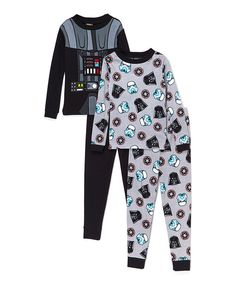 Look at this White & Black Star Wars Vader Pajama Set - Boys on #zulily today!