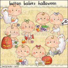 Button Babies Halloween 1 - Clip Art by Cheryl Seslar
