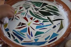 Twig and Toadstool: Mosaic Bird Bath for the Garden.