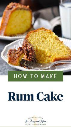Lemon Dessert Recipes, Easy Desserts, Sweet Recipes, Baking Recipes, Cooking Bread, Bunt Cakes, Rum Cake, Sorbets, Dessert Bread