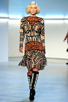 Rodarte - Fall 2012 art deco inspired pattern