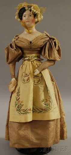 German Papier-mâché Shoulder Head Doll | Sale Number 2530M, Lot Number 1069 | Skinner Auctioneers