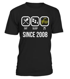 """# Eat Sleep Jazz Since 2008 T-Shirt 9th Birthday Gift Tee .  Special Offer, not available in shops      Comes in a variety of styles and colours      Buy yours now before it is too late!      Secured payment via Visa / Mastercard / Amex / PayPal      How to place an order            Choose the model from the drop-down menu      Click on """"Buy it now""""      Choose the size and the quantity      Add your delivery address and bank details      And that's it!      Tags: Perfect Birthday Gift for…"""