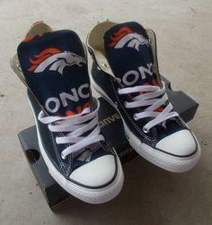 Denver Broncos Converse Shoes by FreeStreetShop on Etsy