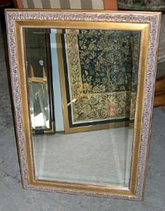 Gold Framed Mirror (#022103) Gold Framed Mirror, Bedroom Furniture, Oversized Mirror, Places To Go, Home Decor, Bed Furniture, Decoration Home, Room Decor, Interior Design