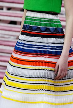 Colorful pleats from Dior spring 2015 couture.Photo: Style.com