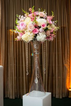 Amazing tall soft pastel arrangement