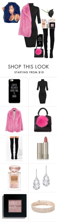 """""""Pink🌹"""" by qveenxsharissa16 ❤ liked on Polyvore featuring Undress, J.Crew, Les Petits Joueurs, Jeffrey Campbell, Ilia, Giorgio Armani, Plukka, Bobbi Brown Cosmetics and Anne Klein"""