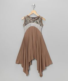 Take a look at this Brown Sidetail Dress by Zoe on #zulily today!