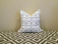 This white and navy pillow has a navy stripe cushion. This cover is made from 100% Cotton. White cotton fabric on the back.  Invisible zipper enclosure.  Wash in cold water on gentle cycle. Use warm iron if needed.  ❤ CUSTOM: Were happy to create custom products. If youd like