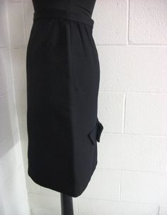 Vintage Skirt with Bow Black Stella Sloat Size small by YajnaPatni, $42.00