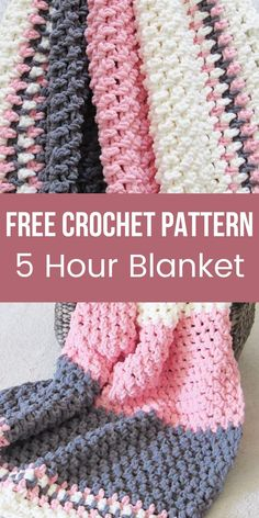 Crochet Baby Blanket Free Pattern, Crochet For Beginners Blanket, Crochet Stitches Patterns, Beginner Crochet Blankets, Crochet Stitches For Blankets, Crochet Afghans, Beginner Crochet Patterns, Crocheted Baby Blankets, Crochet Projects For Beginners