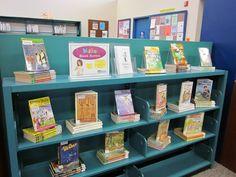 Kid's Series book displays.