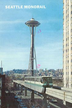 Space Needle and monorail, 1978