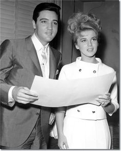 Elvis Presley and Ann-Margret at the MGM studios 1963.