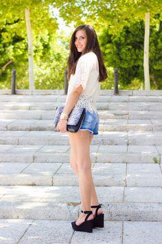 look boho chic con shorts y blusa #kissmylook