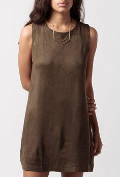 Azalea - Nora Sleeveless Suedey Dress