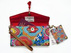 Indian Print Vinyl Passport Holder & Luggage Tags Gift Set