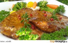 Grilovaná vepřová plec v pivní marinádě Pork, Yummy Food, Beef, Chicken, Baking, Kale Stir Fry, Meat, Delicious Food, Bakken