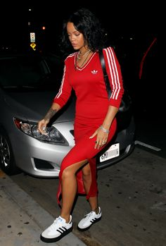 Rihanna in athletic fashion wear