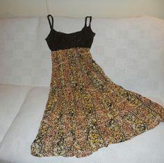 'Free People' Free Flowing Long Dress So sheer and comfortable long natural dress. Free People Skirts Circle & Skater