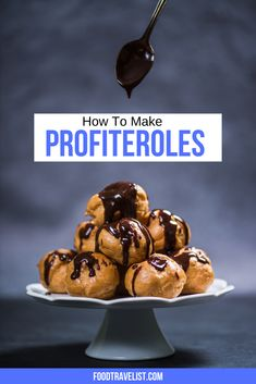 Delicious homemade profiteroles. What could be better? These tasty treats you order at a French restaurant will be even more fun at home. Try this easy recipe and create a dessert your family will love.  #Profiteroles #ChouxalaCreme