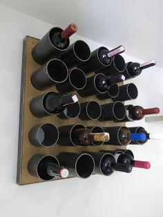Bottle rack / Portabottiglie in ferro e legno di rovere // Rota-Lab