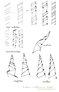 a little lime: shading / accent ideas for Tangles by Helen Williams